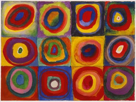 Wassily Kandinsky: Studium koloru. Kwadraty z koncentrycznymi okręgami