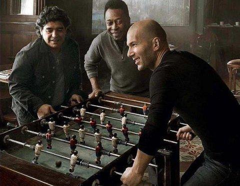Diego Maradona, Pele, Zinedine Zidane