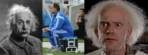 Albert Einstein, Marcelo Bielsa, dr Emmett Brown