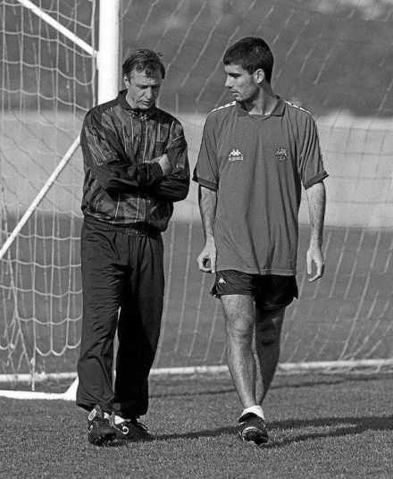 Johan Cruyff i Pep Guardiola