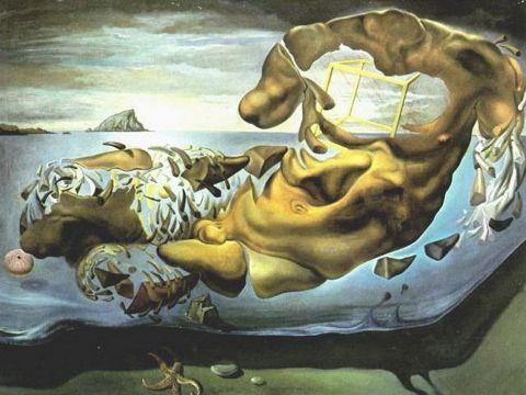 Dezintegracja uporczywości pamięci, Salvador Dali, 1954