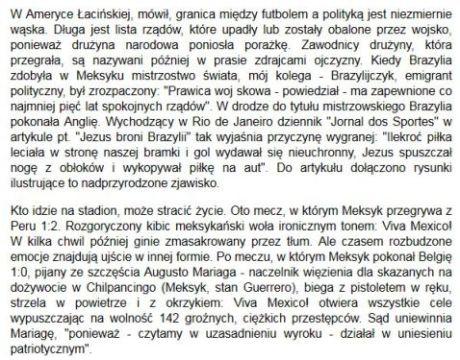 Wojna futbolowa, Ryszard Kapuściński