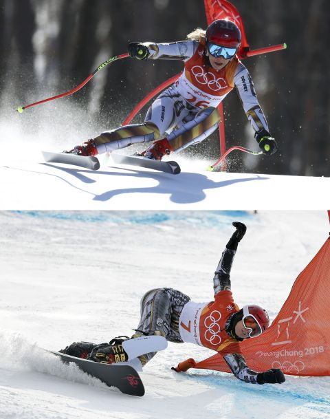 Ester Ledecka, Pjongczang 2018, igrzyska olimpijskie. Fot. Gregory Bull/AP