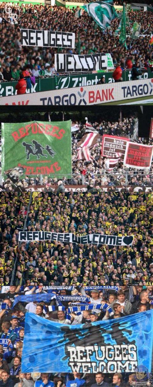 Bundesliga, uchodźcy, kibice